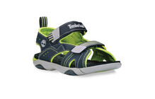 Timberland Junior Dune Buggy 2 Strap Sandal navy with green